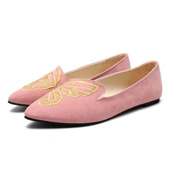 HOT Womens Boat Shoes Casual Ballet Slip On Flats Loafers Butterfly Single Shoes - intl
