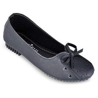 Giày búp bê nơ tim Sarisiu SRS856 (Đen)