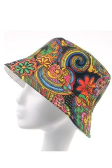 HKS # 35 Bucket Hats Floral Hunting Cap (Multicolor) - intl