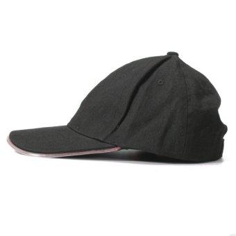 LED Lighted Glow Hat Black Fabric Baseball Golf Hip-hop Sports Cap Men Women Red - intl