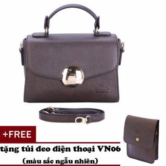 Túi đeo chéo nữ đa năng LATA HN33 (Nâu)+ Tặng ví Vn06