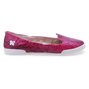 Giày Búp Bê Butterfly Twists Jade (Bt05001-219) - Hồng Dâu Rừng Họa Tiết Da Rắn