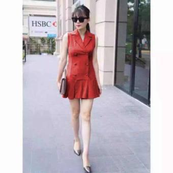 Đầm body vest đuôi cá đỏ G132