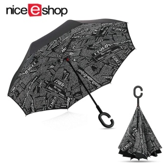 niceEshop Inverted Umbrella Double Layer Windproof Reverse Umbrella For Car And Outdoor Use - intl