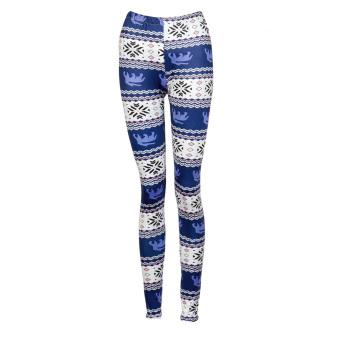Fashion Women Geometry Print Stretchy Slim Pencil Leggings - intl