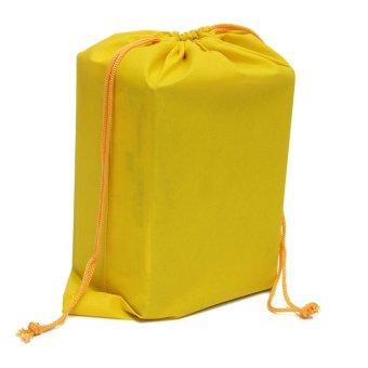 Qiaosha Non-woven Shoes Dress Bag Portable Travel Storage Pouches Drawstring Dust Bags Yellow NEW - intl
