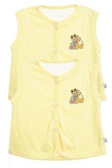 Bộ 2 áo khỉ thêu trẻ em Nanio A0004-Vv (Vàng)