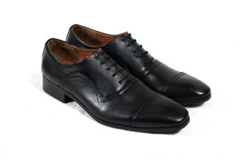 Giày tây cột dây đục lỗ Tathanium Footwear (Đen)