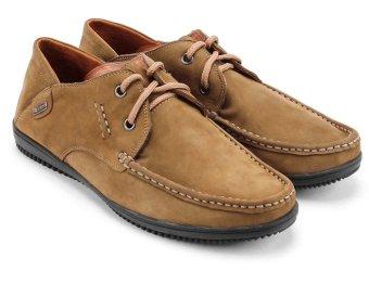 Giày mọi nam da thật màu rêu Gentle MB376 (Bò)