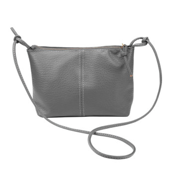 Women Faux Leather Satchel Shoulder Bag Messenger Tote Handbag Gray