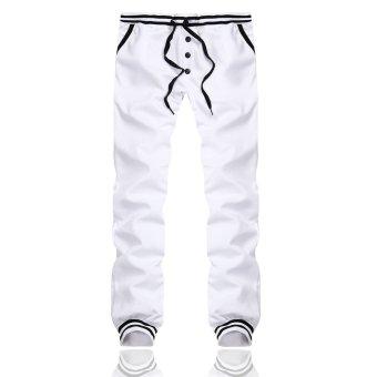 PODOM Men Harem Casual Baggy HipHop Dance Jogger Gym Sweat Pants Trousers Slacks White - Intl