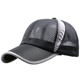 Unisex Summer Outdoor Sport Snapback Baseball Caps Adjustable Mesh Hat Black