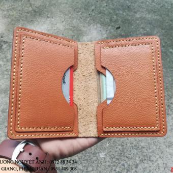 Ví mini handmade da bò đựng thẻ ATM, namecard