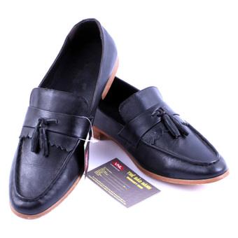 Giày lười nam da thật Da Giày Việt Nam VNL18LZL05S (Đen)