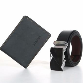 Bộ đôi ví da bò thật C9 và thắt lưng da thật cao cấp TGB Hanama