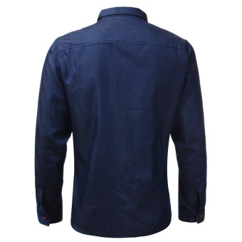 Fashion Men Long Sleeve Casual Vintage Jean Shirts (Intl)