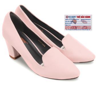 HL7085 - Giày nữ Huy Hoàng cao cấp đế 5cm màu hồng phấn