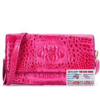 HL6233 - Túi xách nữ da cá sấu đeo chéo màu hồng