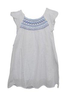 Áo váy Lesrvier carreaux bleu 2039790 (Trắng)