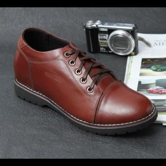 Giày da tăng chiều cao SMARTMEN GD2-08 (Nâu)