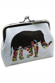 Bluelans Women Elephant Wallet Card Holder Case Coin Purse Clutch Handbag Bag (Intl)