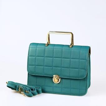 Túi xách thời trang đeo chéo caro vuông TXF-05ZE (màu xanh coban)