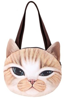 Cyber Women Animal Head Shoulder Bag Packet (Yellow) - intl