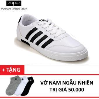 Giày Sneaker Thời Trang Nam Zapas – GS033 (Trắng) + Vớ Nam