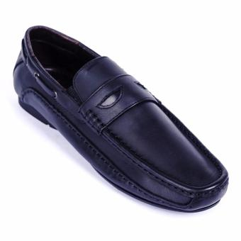 Giày lười nam da thật cao cấp Da Giày Việt Nam - VNLB017VCT3D (Đen)