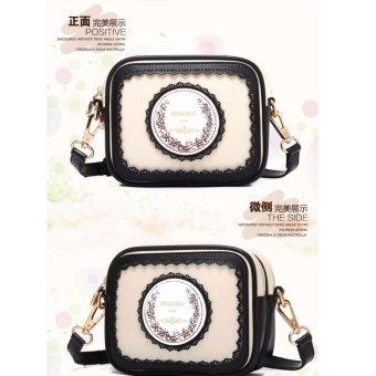 Túi đeo tay đeo vai nữ Cao Cấp HK309 (Đen phối trắng)