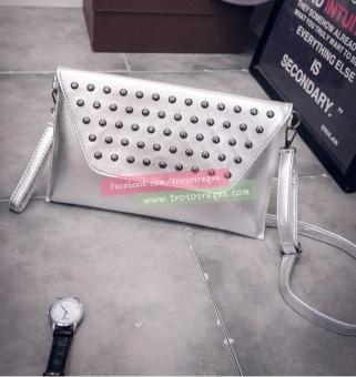 Túi đeo chéo nữ da hình bì thư Global Link-BF014B (Bạc)