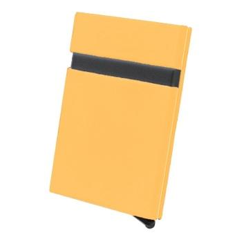 Portable Unisex Men Women Business Cards Storage Box Aluminum Alloy Automatic Pop-up Cards Case ID Credit Cards Protector Holder Purse Wallet Orange - intl