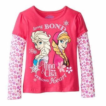 Áo thun tay dài bé gái Disney Frozen Elsa Anna