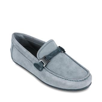 Giày Lười Da Geox U GIONA B (Xám Xanh)