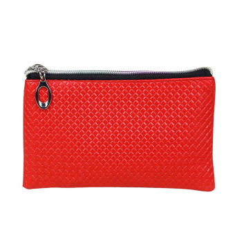 Women Fashion Leather Wallet Red