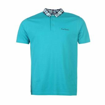 Áo Thun Nam Pierre Cardin Polo Check Collar (Teal)