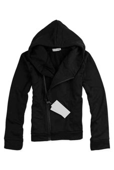 Bluelans Men's British Style Casual Fashion Personality Stayed Hooded Jacket Coat Black (Intl)