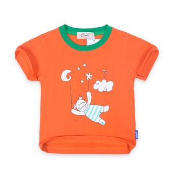 Áo thun bé trai ( bé từ 1 - 3,5 tuổi ) Oiwai 68-7028-011 ORG (cam)