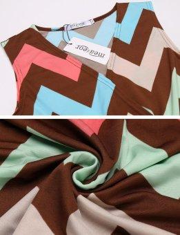 Cyber New Women Casual Cross V-Neck Sleeveless A-Line Pleated Hem Elastic Beach Maxi Dress ( Pink ) - intl