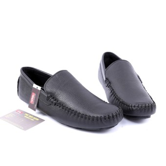Giày lười nam da thật Đen Da giày Việt Nam VNLMO3A773D