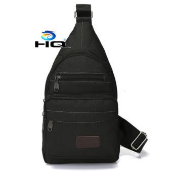 Túi Đeo Ngực Canvas Phối Da Phong Cách HQ 80TU71-1 (đen)
