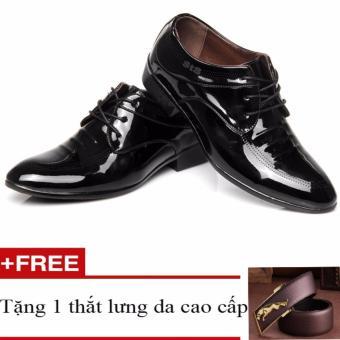 Giày công sở nam da bóng buộc dây