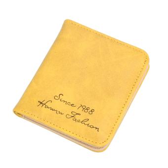 Fahion mini Pure Waset Coin Bag Cae Card Organizer Key Hoder (Yellow)