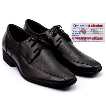 HL7112 - Giày da nam Huy Hoàng da bò màu nâu đỏ