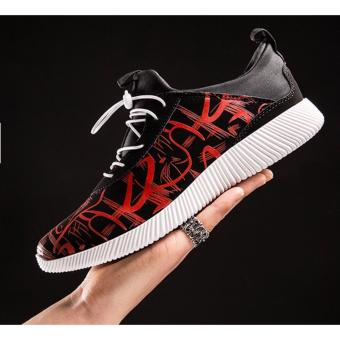 Giày nam bata vân nổi SM037 (Đỏ)