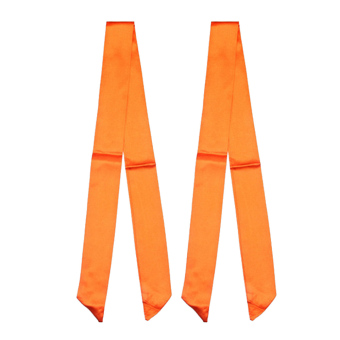 2 Pcs Multifunction Bag Handbag Handle Decorative Silk-like Ribbon Scarf Hair Head Decoration Band No.79 - intl