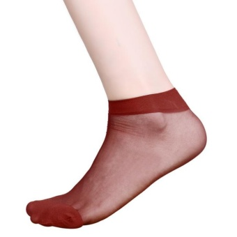 10 Pairs Ultra-thin Elastic Silky Short Silk Stockings Women Ankle Socks WR - intl