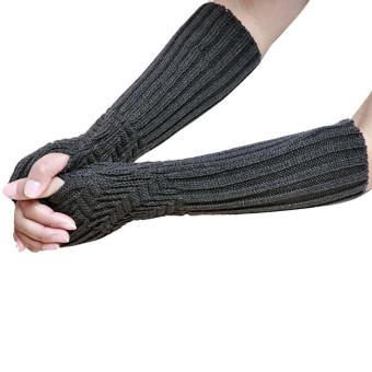 Fingerless Knitted Long Gloves