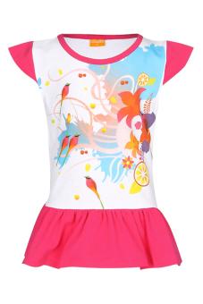Áo thun dài bé gái V.T.A.Kids BG405303H (Trắng hồng)