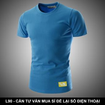 Áo thun nam đơn giản - màu xanh - vẻ đẹp từ sự năng động L90